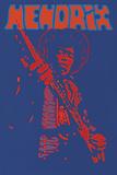 Hendrix Giclée-Druck von Peter Marsh