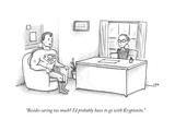 """""""Besides caring too much? I'd probably have to go with Kryptonite."""" - New Yorker Cartoon Premium Giclee Print by Jason Adam Katzenstein"""