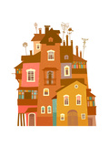 Old Quaint House Prints by  polinina