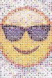 Emoji Sunglasses Mosaic Print