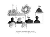 """If anyone's interested in taking over Ed's Instagram account, see me afte..."" - New Yorker Cartoon Premium Giclee Print by Julia Suits"