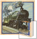 Railway Locomotive Wood Print by John S. Smith
