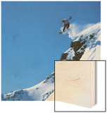 Snowboarder Performing Jump Wood Print by Doug Berry