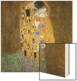 The Kiss, c.1907 Wood Sign by Gustav Klimt