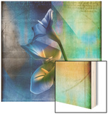 Calla Lilies and Colorful Patterns Wood Print by Colin Anderson
