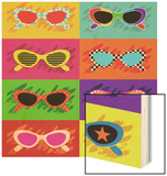 Collection Of Pop Art Sunglasses Wood Print by  UltraPop