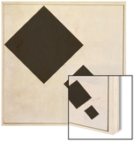 Arithmetic Composition Wood Print by Theo Van Doesburg