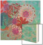 Bohemian Flowers Wood Print by Jeanne Wassenaar