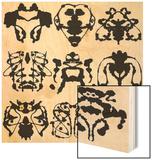 Nine Rorschach Test Wood Print by  akova