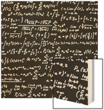 Blackboard With A Math Scribble Wood Print by  YKh