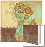 Bohemian Floral II Wood Print by Wendy Bentley
