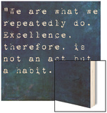 Inspirational Quote By On Earthy Background Wood Print by  nagib