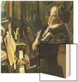 Beethoven at the Piano Wood Print by  English School
