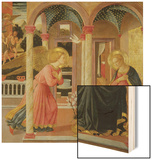 Annunciation Wood Print by Zanobi Machiavelli