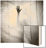 Shadow of a Hand Against Cloth Wood Print by Annette Fournet