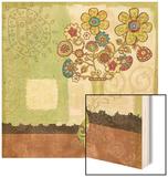 Bohemian Floral III Wood Print by Wendy Bentley