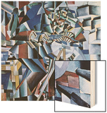 The Knife Grinder, 1912-13 Wood Print by Kasimir Malevich