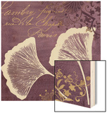 Lavender Ginkgo Wood Print by Booker Morey