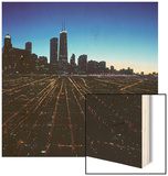 Chicago Skyline at Twilight Wood Print by Bill Ross