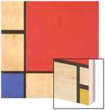 Composition with Red, Yellow and Blue, 1930 Wood Sign by Piet Mondrian