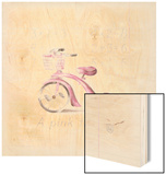 Pink Tricycle Wood Print by Lauren Hamilton