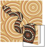 Aboriginal Abstract Art Wood Print by  Piccola