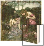 Study for 'Nymphs Finding the Head of Orpheus', C.1900 Wood Print by John William Waterhouse