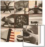Aircraft Montage Wood Print by Matt McCarthy