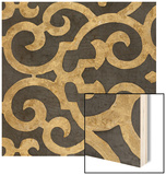 Lattice Ebony Wood Print by  Regina-Andrew Design