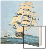 The Cutty Sark Wood Print by John S. Smith