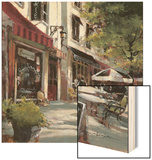 Boulevard Cafe Wood Sign by Brent Heighton