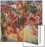 Elasticity Wood Print by Umberto Boccioni