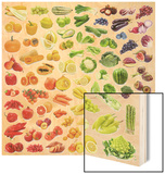 Collection Of Fruits And Vegetables Wood Print by  egal