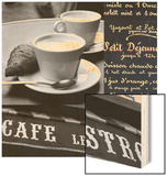French Café 1 Wood Print by Cameron Duprais