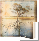 Graph of Tree and Roots Wood Print by Colin Anderson