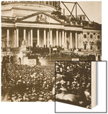 Inauguration of President Lincoln, 4th March 1861 Wood Print by Mathew Brady