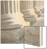 Columns at Supreme Court Building Wood Print by Ron Chapple