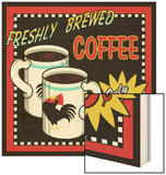 Freshly Brewed Coffee Wood Print by Kate Ward Thacker