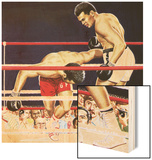 Muhammad Ali Regaining His Crown in the Fight Against George Foreman in 1974 Wood Sign by John Keay