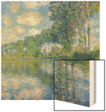 Poplars on the Epte Wood Print by Claude Monet