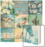 Beach Access - Nine Square Wood Sign by Gregory Gorham
