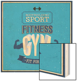 Fitness Gym Design Wood Sign by  MiloArt