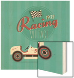 Vintage Sport Racing Cars Wood Print by vector pro