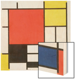 Composition with Red, Yellow, Blue and Black, 1921 Wood Print by Piet Mondrian