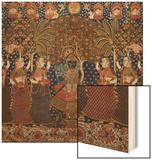 A Gold Chintz Pichhavai of Krishna Wood Print