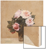 Fleurs - Roses Roses, 1886 Wood Print by Henri Fantin-Latour