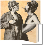 Mash, Donald Sutherland, Elliott Gould, 1970 Wood Sign