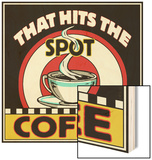 Coffee Hits the Spot Wood Print by Kate Ward Thacker