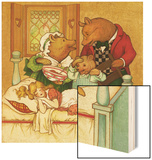 Goldilocks and the Three Bears Wood Print