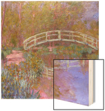 Le Pont Japonais Dans le Jardin de Monet Wood Print by Claude Monet